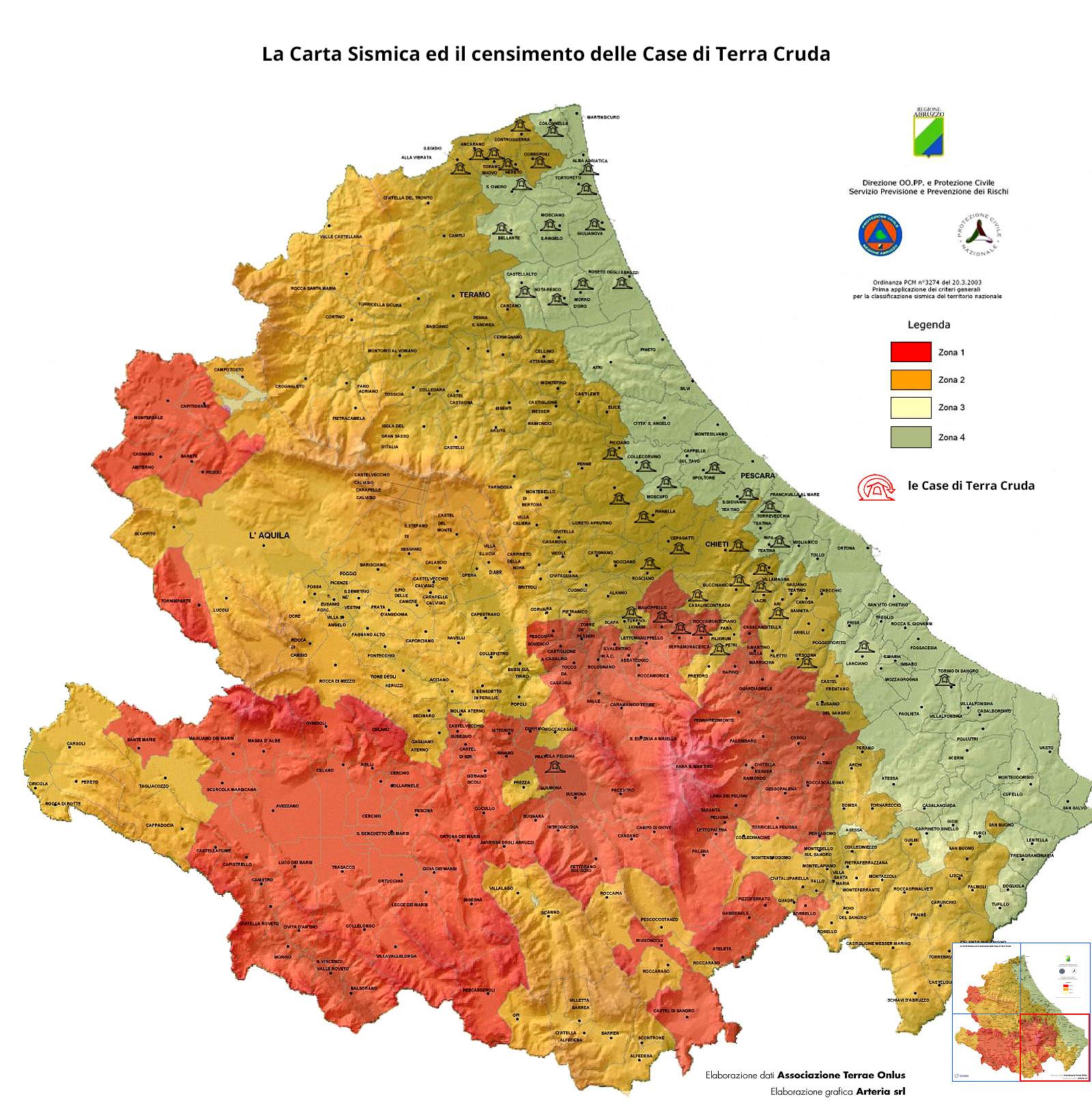 Cartina Della Regione Abruzzo.Le Case Di Terra In Abruzzo Ced Terra