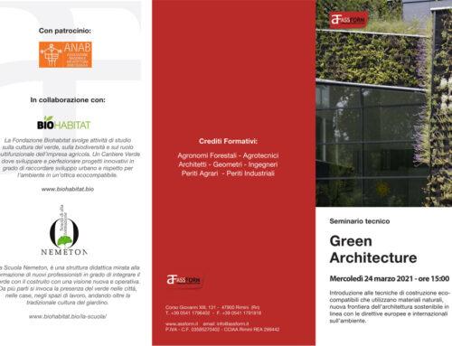 Green Architecture – Seminario tecnico gratuito