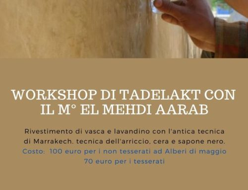 Workshop di Tadelakt con il M° El Mehdi Aarab